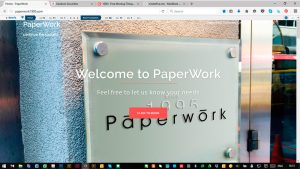 web design for Paper Work