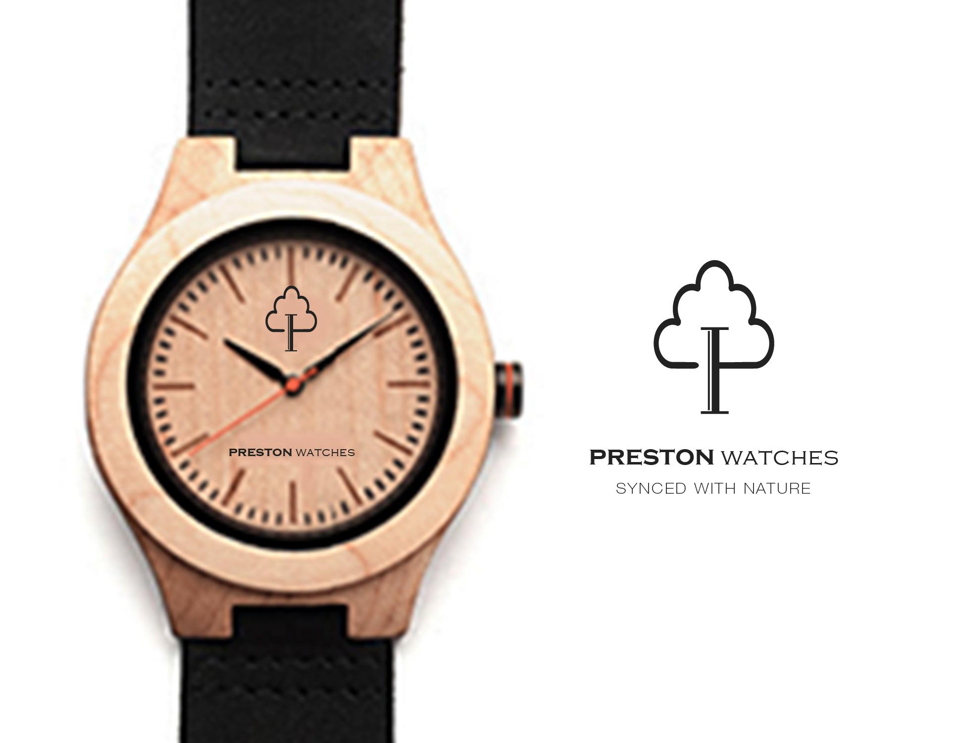 preston watch logo design