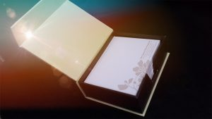 packaging design for a note pad box