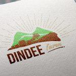 Natural Paper Printed Dindee Farm Logo MockUp