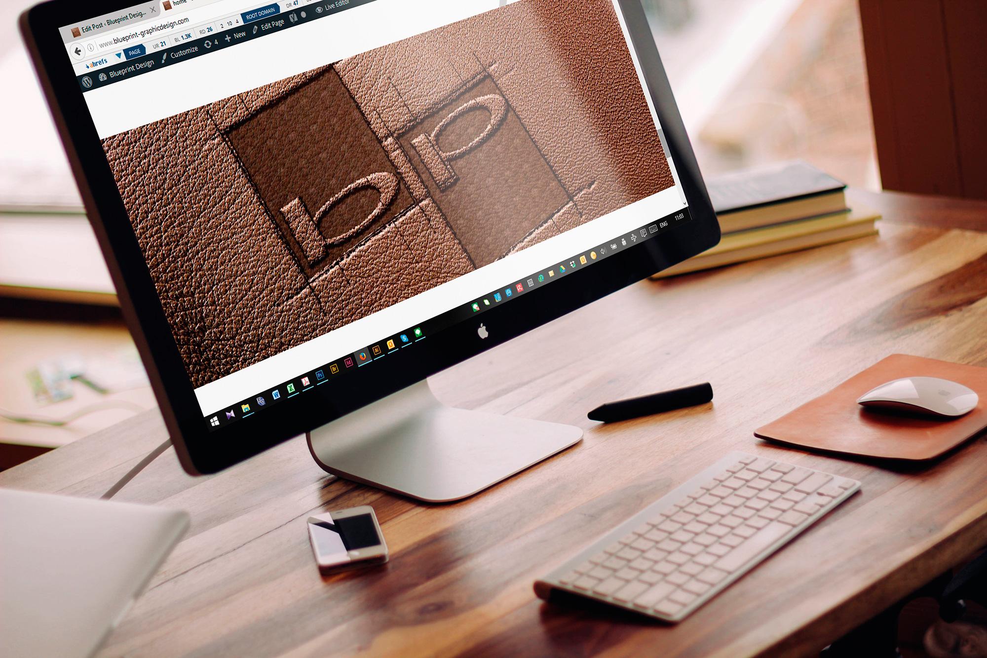 web design mockup for BP