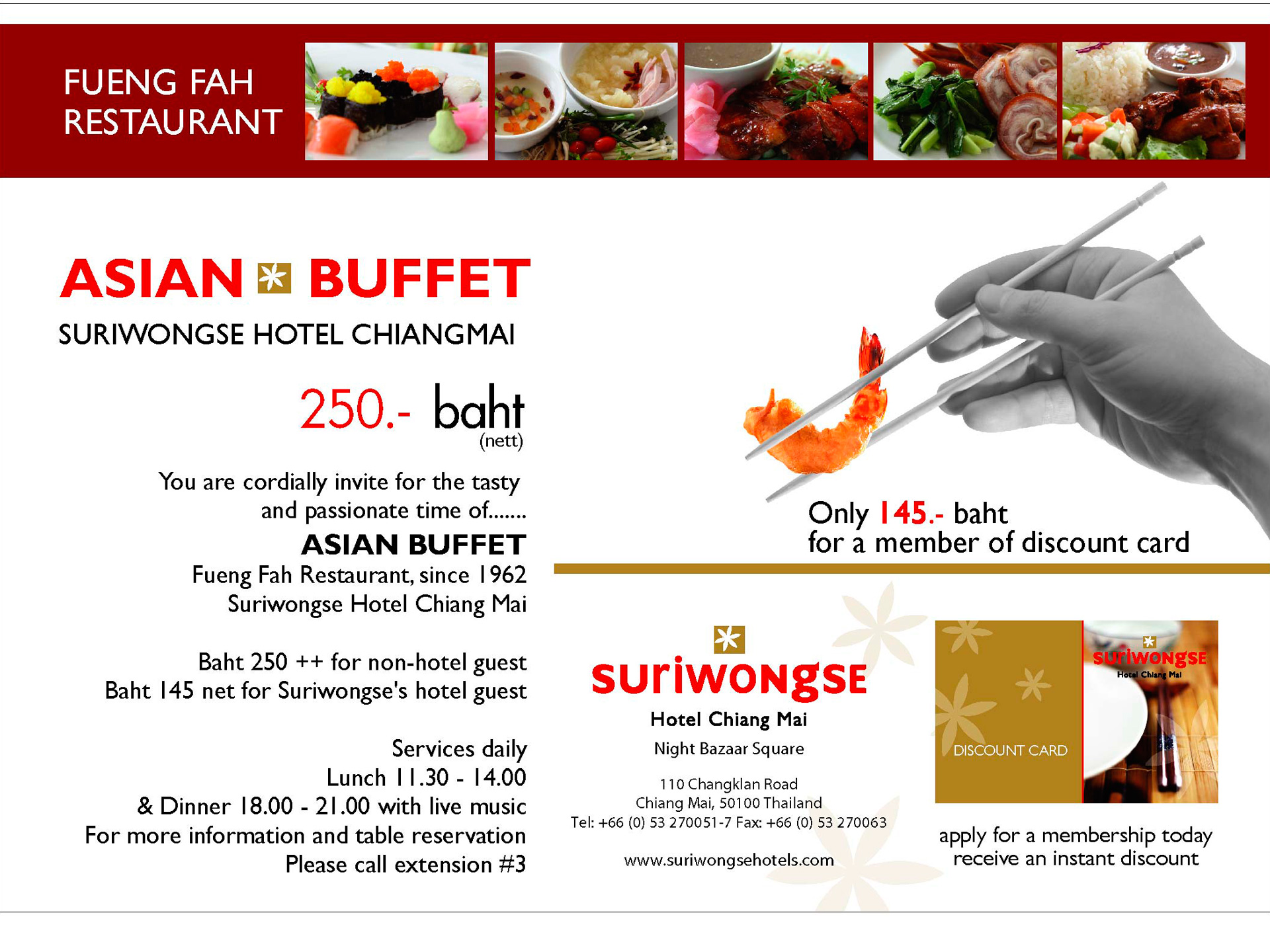 cid for asian buffet suriwongse hotel